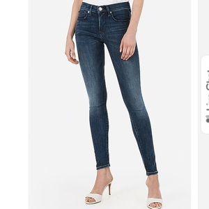Express blue jeans leggings mid rise